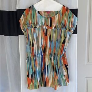 Tunic with gathered waist top XL